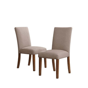 Dorel Living Parsons Linen Dining Chairs in Taupe (Set of 2)   #4285