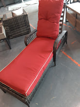 Load image into Gallery viewer, Red Aldusa Reclining Chaise Lounge with Cushion