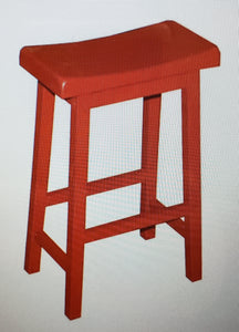 "‎ 30"" Arizona Saddle Stool Red #6008"