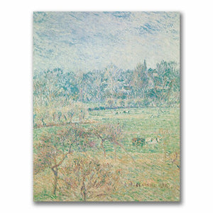 "47 x 35 ""Autumn Morning"" by Camille Pissarro Painting Print on Canvas  #4090"