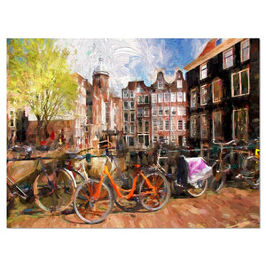 'Amsterdam City Work' Painting Print 3043