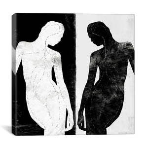37 x 37 'Contrasting Silhouette Figure' by 5by5collective - Wrapped Canvas Graphic Art Print   #4201