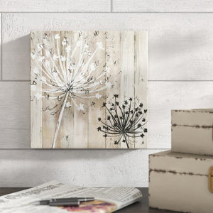 "32"" H x 32"" W x 1.5"" D Beige 'Farmhouse Fluff' Painting on Wrapped Canvas   #4242"