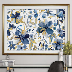 'Golden Indigo Garden' Oil Painting Print #6096