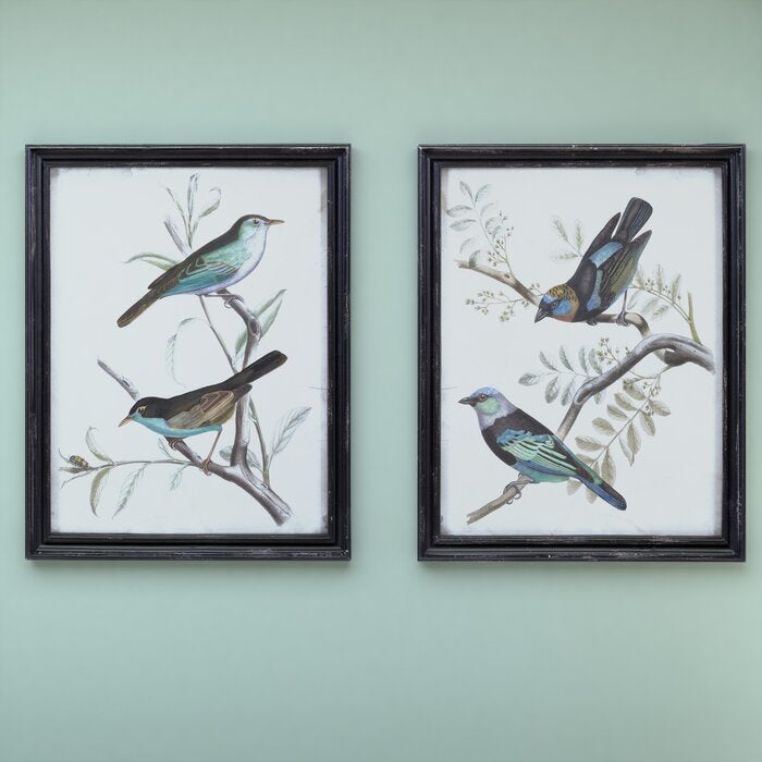 'Maisly Bird' - 2 Piece Picture Frame Graphic Art #6266