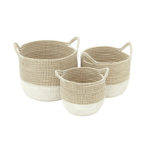 3 Piece Seagrass Basket Set #6083