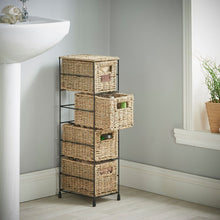 Load image into Gallery viewer, 4 Tier Seagrass Wicker Basket  #5095