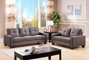 "56"" Square Arm Loveseat (gray)  #5056"