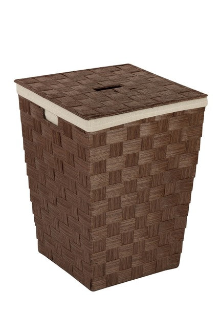 Honey-Can-Do Woven Brown Hamper  -NO LID   #4335