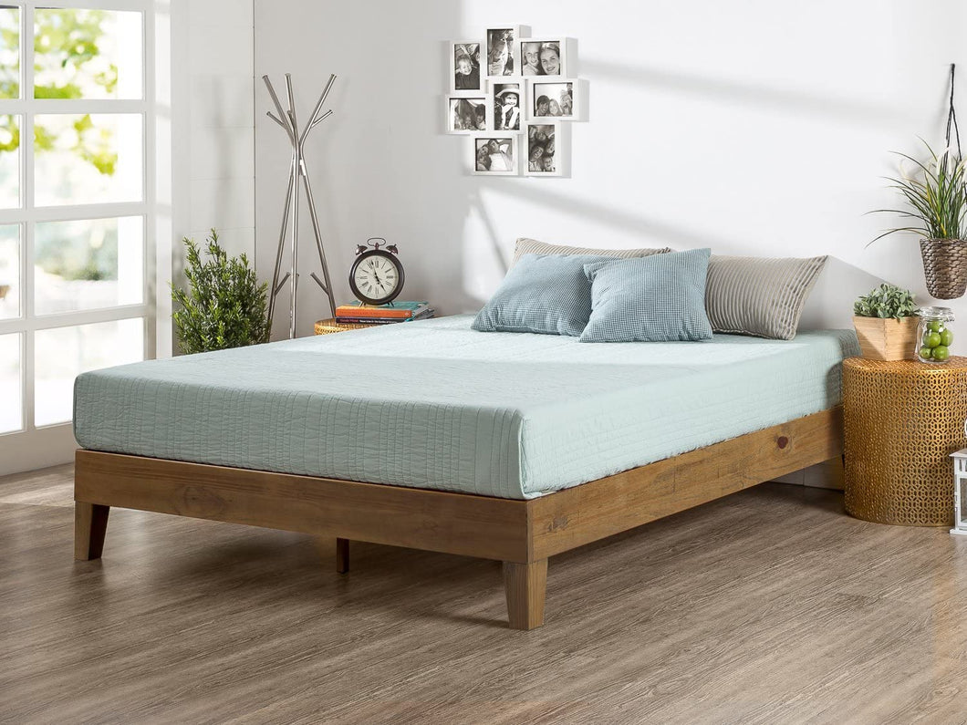 Zinus 12 Inch Deluxe Wood Platform Bed  (KING) #5104