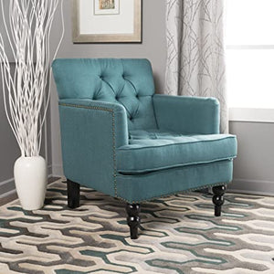 Christopher Knight Home Malone Fabric Club Chair, Dark Teal  #4355