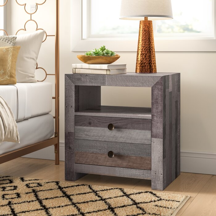 Abbey 2 Drawer Nightstand