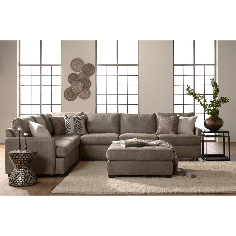 Althea Grey Microsuede HALF SECTIONAL