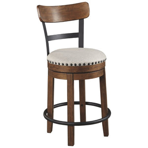 Brown Amador Upholstered Swivel Bar & Counter Stool   #5083