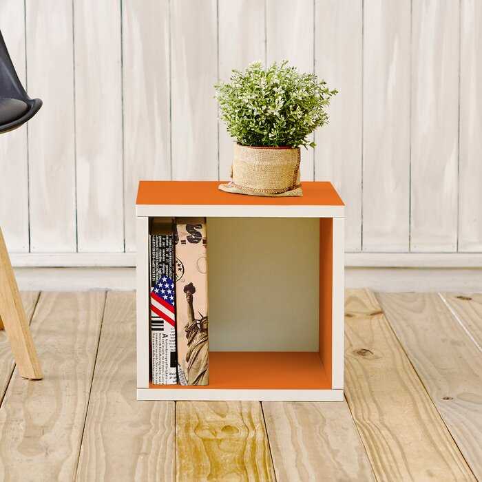 Andrade Eco Stackable Storage Cube Bookcase  in Orange  #4076