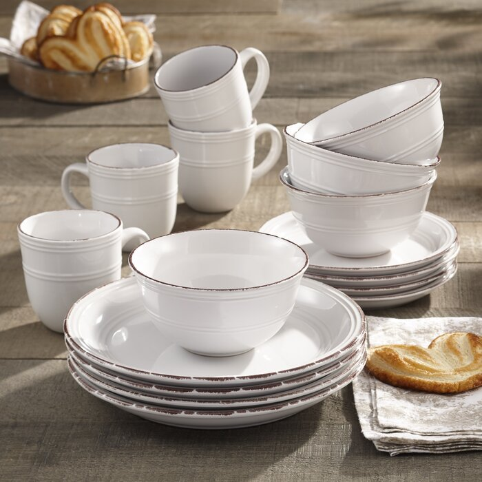 Annabelle 16 Piece Dinnerware Set, Service For 4  #5407