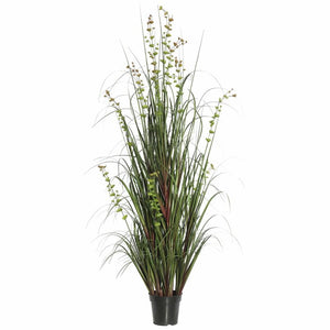 Artificial Green Grass and Eucalyptus Floor Foliage Grass in Pot #5216