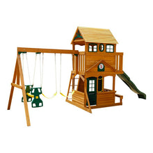 Load image into Gallery viewer, Ashberry Wooden Swing Set 2023 (3 boxes and a slide)