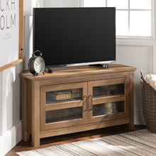 "Load image into Gallery viewer, Rustic Oak Aurelio TV Stand for TVs up to 48"" #5008"