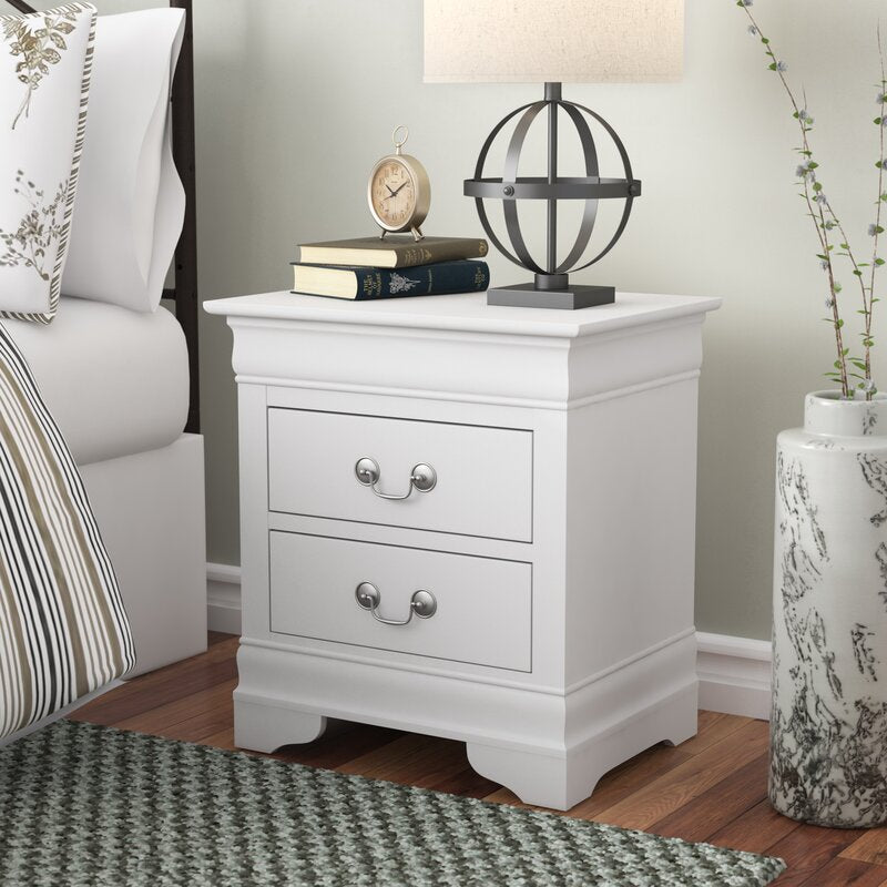 Babcock 2 - Drawer Nightstand  in White   #4135