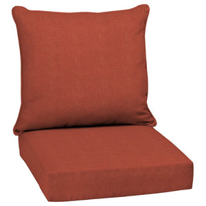 Bolanos Woven Outdoor Seat/Back Cushion Orange Set of two #6006
