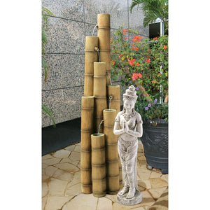 Brown Bamboo Cascading Tiered Fountain  #5092