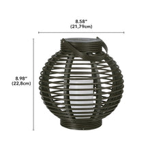 Load image into Gallery viewer, (Set of 2)Basket Brown Outdoor Lantern with Electric Candle  #5342