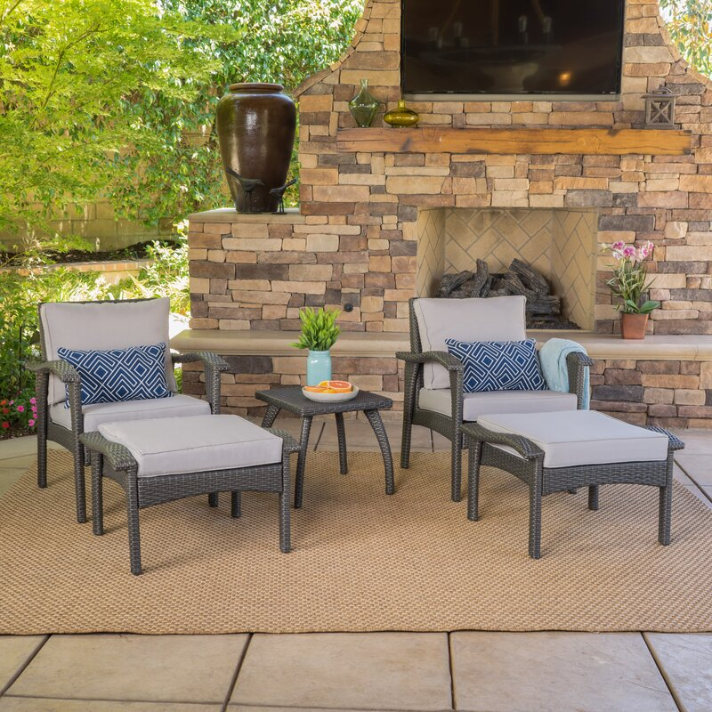 Beacon 5 Piece Seating Group with Cushions