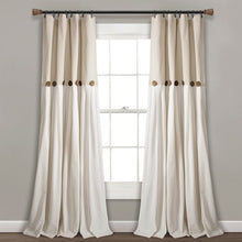 Load image into Gallery viewer, Beckham Window Solid Semi-Sheer Rod Pocket Curtain Panel  #5269