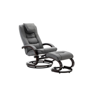 Belanger Manual Swivel Recliner with Ottoman in Charcoal  #4150