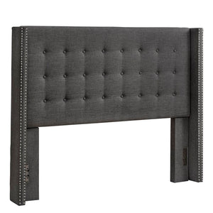 Bourgeois Upholstered Eastern Wingback Headboard (charcoal gray)  #5132