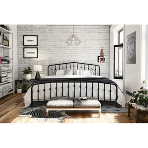 Bushwick Platform Full Metal Black Bed #6030