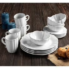 Load image into Gallery viewer, Cadwallader 16 Piece Dinnerware Set, Service for 4  (white)  #5073
