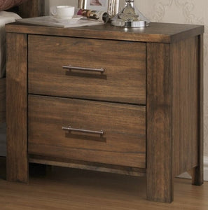 Brown Cayuse 2 Drawer Nightstand   #4521