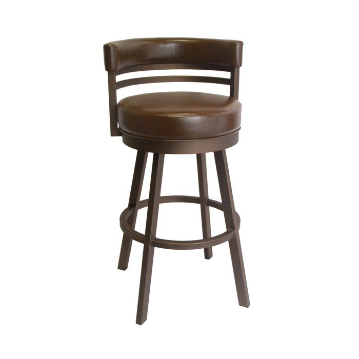 SINGLE Chamisa Swivel Bar & Counter Stool in Sun Bronze/Dark Brown #4195