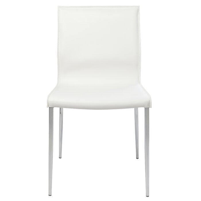 Colter Faux leather Dining Chair WHITE #6194