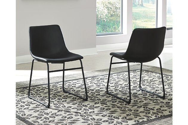 Centiar Dining Room Chair (Set of 2) in Black Faux Leather   #4481