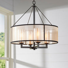 Load image into Gallery viewer, Dailey 4 - Light Statement Drum Chandelier   #4477
