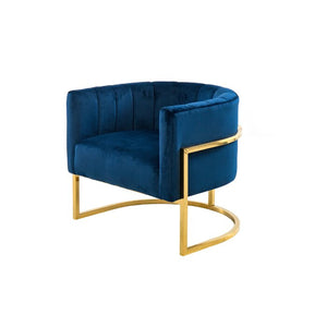 Delmonte Lounge Chair in Blue   #4209