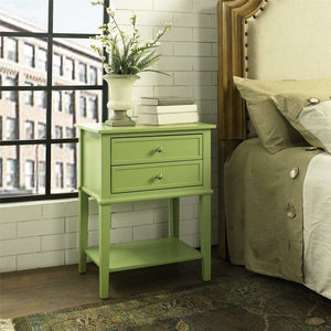 Dmitry 2 Drawer End Table 2303