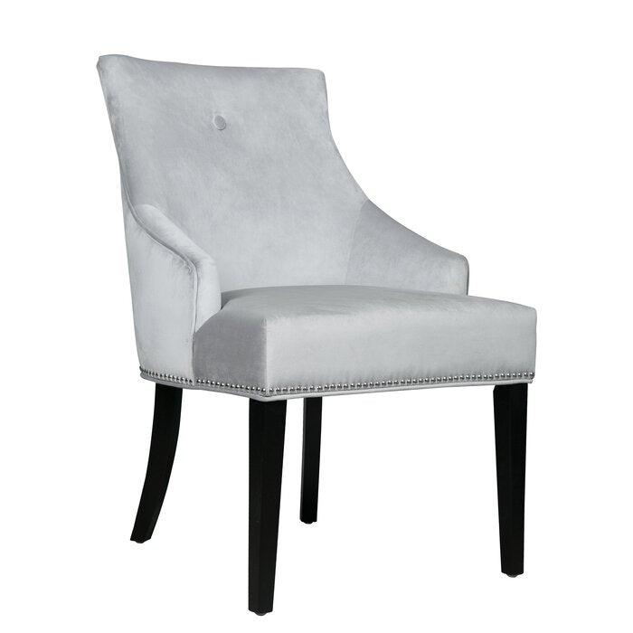 SINGLE Dravis Upholstered Dining Chair in Gray#4508