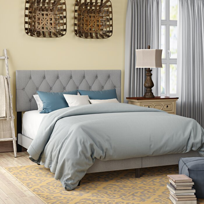 QUEEN Gray Drusilla Upholstered Standard HEADBOARD ONLY!   #ta5340