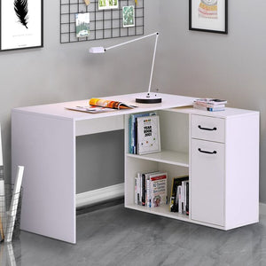 White Edny L-Shape Executive Desk-ELG1658