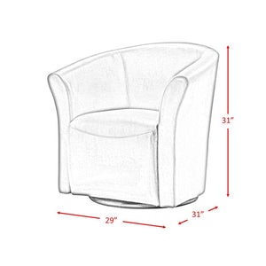 "Elisha 29"" Wide Swivel Barrel Chair ELG2138"