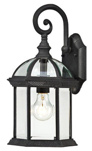 Estero Outdoor Wall Lantern in Black   #4218