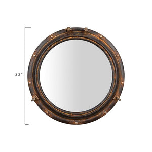 Rustic Beveled Distressed Accent Mirror  #mp3592