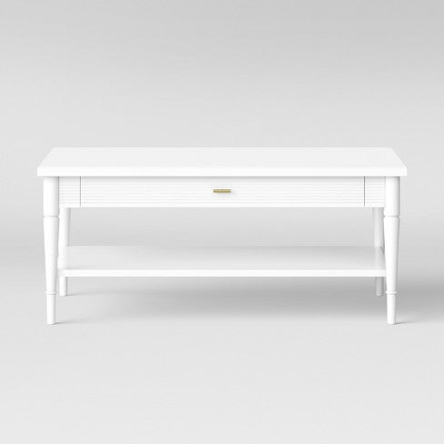 Cambridge Turned Leg Coffee Table Ivory - Threshold™ EB2710