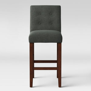 "SINGLE 29"" Ewing Modern Barstool with Buttons in Dark Gray   #4451"