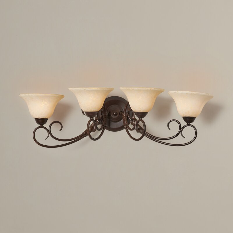 Rubbed Bronze Gaines 4-Light Vanity Light 3231