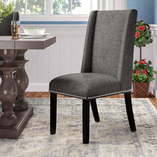 Load image into Gallery viewer, Gray-Galewood Wood Leg Upholstered Dining Chair  #5200